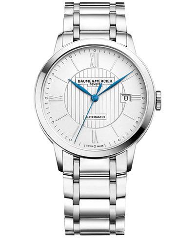 Baume & Mercier Men's Swiss Automatic Classima Stainless Steel Bracelet Watch 40mm M0A10215