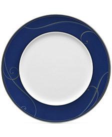 Noritake Platinum Wave Indigo Porcelain Dinner Plate