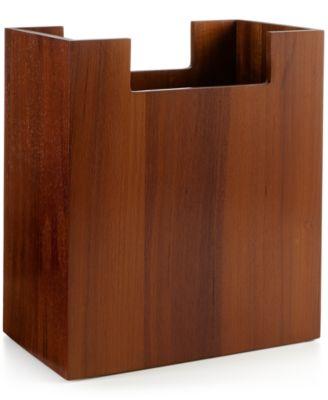 Hotel Collection Teak Wastebasket, Created For Macyu0027s