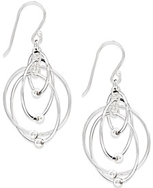 Multi-Circle Bead Drop Earrings in Sterling Silver, Created for Macy's