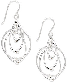 Giani Bernini Multi-Circle Bead Drop Earrings in Sterling Silver, Created for Macy's