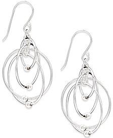 Giani Bernini Multi-Circle Bead Drop Earrings in Sterling Silver, Created for Macy's