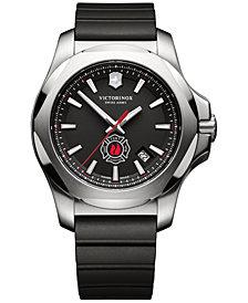Victorinox Swiss Army Men's Swiss I.N.O.X. FDNY Black Rubber Strap Watch 43mm 249104