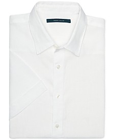 Men's Linen Short-Sleeve Button-Front Shirt