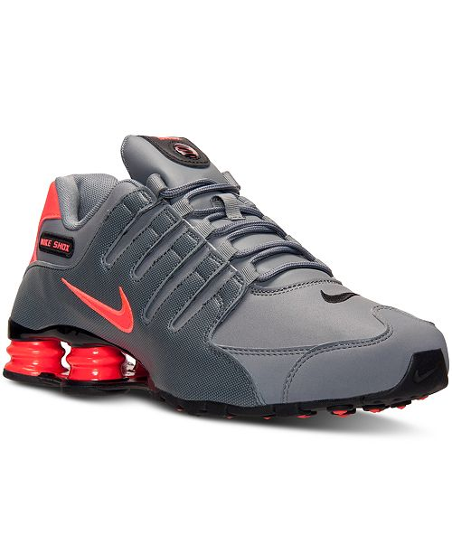 premium selection 94017 40b87 ... Nike Men s Shox NZ Running Sneakers from Finish ...