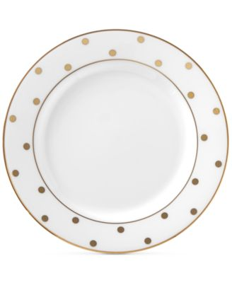 Larabee Road Gold Bone China Butter Plate