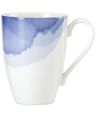 Indigo Watercolor Stripe Porcelain Mug, Created for Macy's