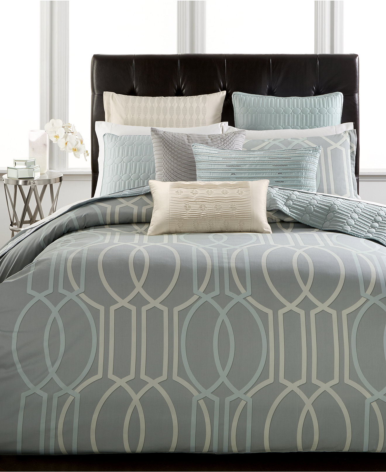 hotel collection frame white queen duvet cover  sweetgalas - closeout hotel collection modern interlace bedding