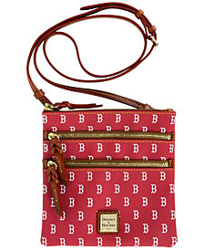 Dooney & Bourke Boston Red Sox Triple Zip Crossbody Bag