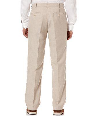 Cubavera Flat Front Easy Care Linen Pants Pants Men Macys