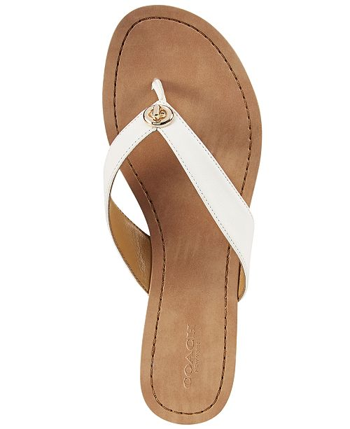 a1eb34e2fff7 COACH Shelly Flip Flops   Reviews - Sandals   Flip Flops - Shoes ...