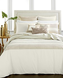 CLOSEOUT! Hotel Collection Modern Eyelet Duvet Covers, Created for Macy's