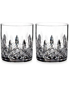 Crystal Lismore Straight-Sided Tumblers, Set of 2