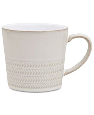 Natural Canvas Stoneware Textured Large Mug