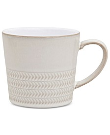Natural Canvas Stoneware Textured Large Mug