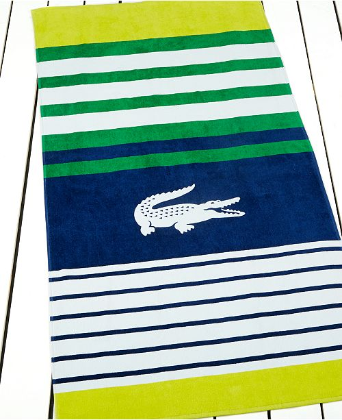 Lacoste Towels Clearance: Lacoste Regate Beach Towel