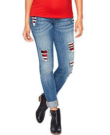 Motherhood Maternity Distressed Skinny Jeans, Medium Wash