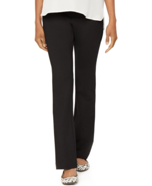 Image of A Pea in the Pod Maternity Bootcut Ponte Dress Pants