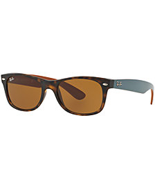 Ray-Ban Polarized New Wayfarer Sunglasses, RB2132 52