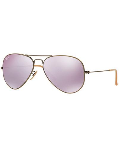 Ray-Ban ORIGINAL AVIATOR MIRRORED Sunglasses, RB3025 55