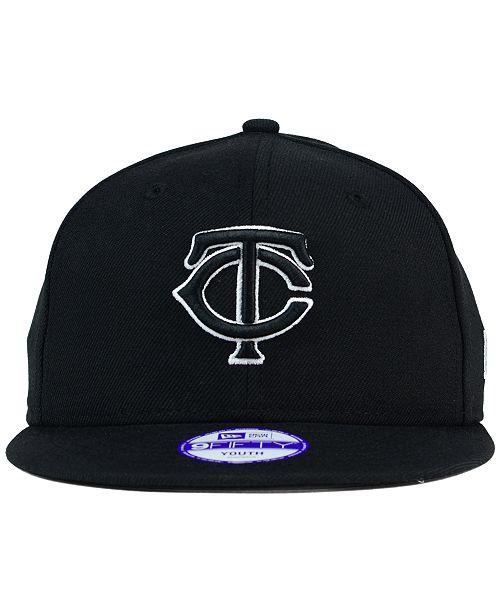08020b438dbb8 ... usa new era kids minnesota twins black white 9fifty snapback cap sports  fan shop by lids