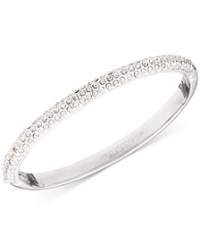 Anne Klein Crystal Pavé Bangle Bracelet, Created for Macy's