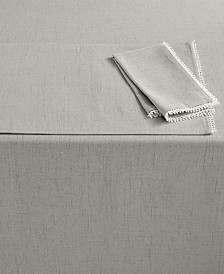 """Lenox French Perle 70"""" Round Dove Gray Tablecloth"""