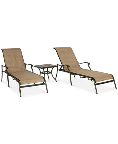 Beachmont II Outdoor 3-Pc. Dining Set (2 Chaise Lounge, Created for Macy's and 1 End Table), Created for Macy's
