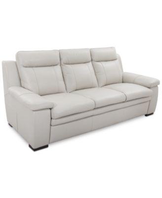 zane leather sofa