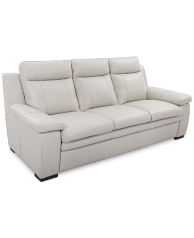 Zane Leather Sofa Furniture Macy S