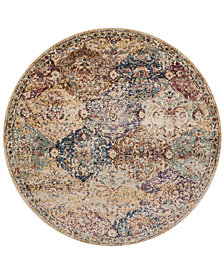 "Macy's Fine Rug Gallery Andreas   AF-12  Ivory/Multi 5'3"" Round Rug"