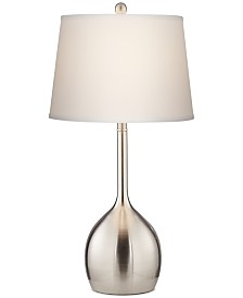 Pacific Coast Tall Brushed Steel Table Lamp, Created for Macy's