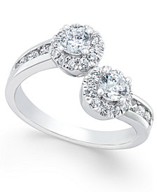 Two Souls, One Love® Diamond Anniversary Ring (1 ct. t.w.) in 14k White Gold