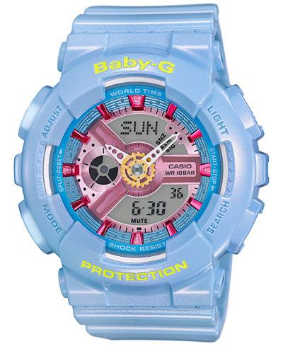 Baby-G Women's Analog-Digital Blue Strap Watch 46x43mm BA110CA-2A