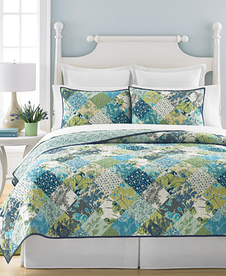 martha stewart collection closeout antique patchwork artichoke king quilt created for macy 39 s. Black Bedroom Furniture Sets. Home Design Ideas