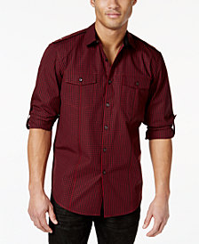 I.N.C. Men's Roll Tab Shirt, Created for Macy's