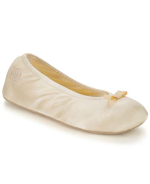 Isotoner Signature Isotoner Satin Ballerina Slipper