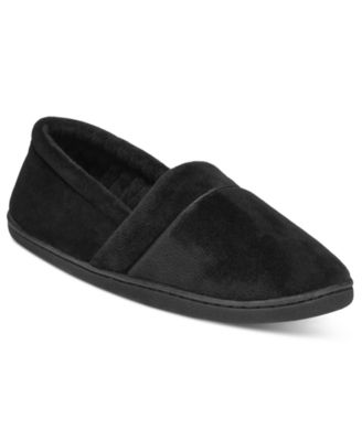 Image of Charter Club Microvelour Memory Foam Slippers, Created for Macy's
