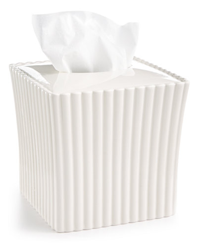 CLOSEOUT! Martha Stewart Collection Ceramic Scallop Tissue Box, Created for Macy's