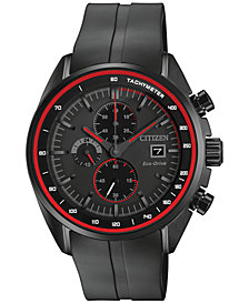 Citizen Men's Chronograph Eco-Drive Black Strap Watch 44mm CA0595-11F