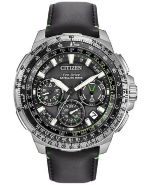 Citizen Men's Chronograph Eco-Drive Black Leather Strap