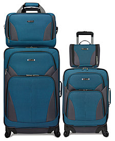 Travel Select Allentown 4 Piece Spinner Luggage Set, Created for Macy's