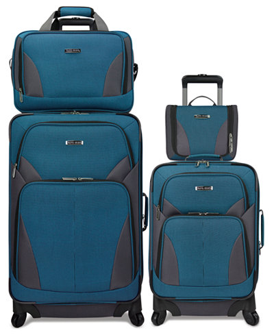 Travel Select Allentown 4 Piece Spinner Luggage Set, Created for ...