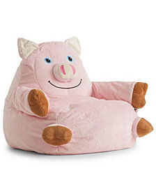 Penelope the Pig Bean Bag Chair, Quick Ship