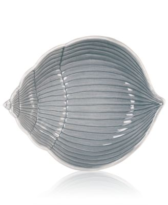 Cape Coral Collection Gray Shell Bowl