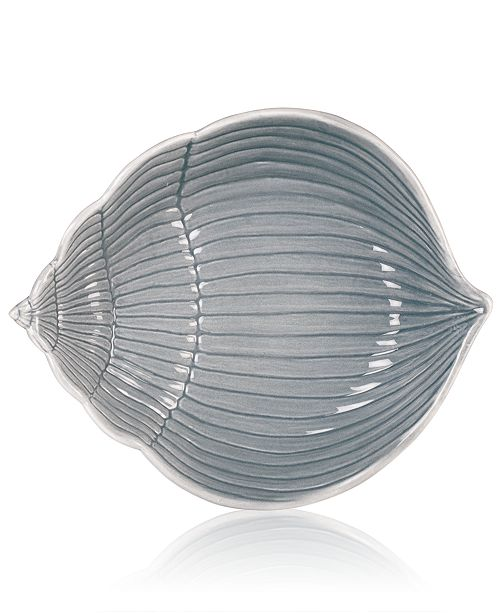 Fitz and Floyd Cape Coral Collection Gray Shell Bowl