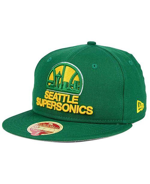 77acfedb ... New Era Seattle SuperSonics Classic Wool 59FIFTY Fitted Cap ...