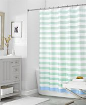 "CLOSEOUT! Martha Stewart Collection 72"" x 72"" Beach House Stripe Shower Curtain, Created for Macy's"