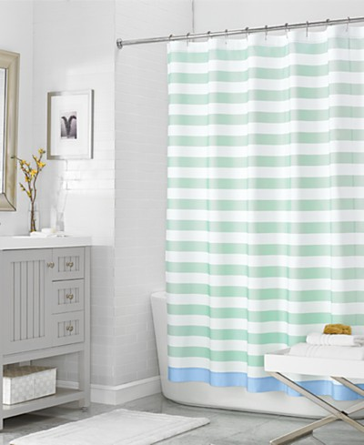 Martha Stewart Collection 72 x 72 Beach House Stripe Shower Curtain, Created for Macy's