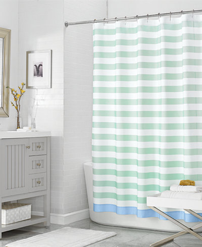 72 X Beach House Stripe Shower Curtain Created For Macys